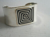 Vintage Sterling Silver Dominique Dinouart DDD Mexico Cuff Bracelet 4011CD