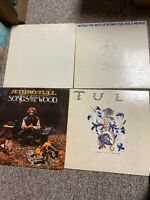 JETHRO TULL Lot 4 LP records: Best of Vol I & II, Songs Wood, Crest Knave -- VG+