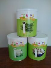 LOT of 3 #10 Can THRIVE Shelf Reliance Freeze Dried Emergency Food VEGETABLES