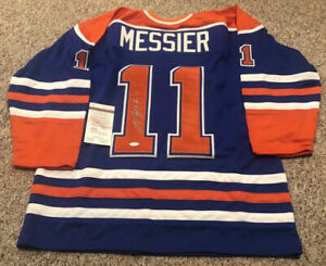 MARK MESSIER Autographed Autograph Auto Signed Edmonton Oilers Jersey JSA