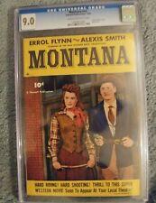 Montana #nn CGC 9.0 Errol Flynn Photo CVR 1950 Golden age comic