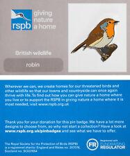RSPB Pin Badge | Robin | GNaH backing card [00492]