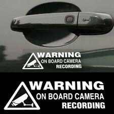 1x Car Window Vinyl Sticker Decal Warning On Board Camera Recording Accessories