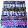 New 6 of Mens Boxers Plaid Shorts Underwear Lot Cotton Briefs Pairs Pack S-2XL