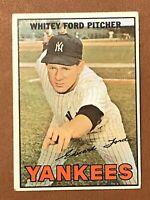 1967 Topps Whitey Ford Card #5 EX HOF New York Yankees