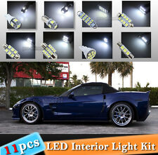 11-pc White LED Interior Light Bulbs Package Kit Fit Chevrolet Chevy Corvette C6