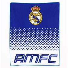 Official Licensed Football Product Real Madrid Fade Fleece Blanket Gift Fan