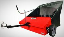 Lawn Sweeper Tow Behind Steel Frame Hitch 44 in. 25 cu. ft. Flow thru Bag