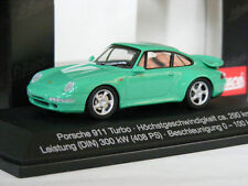 RARE SCHUCO PORSCHE 911 993 TURBO AUTOMANIA PROMO GREEN 1:43 MINT 1/500