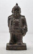 Antique Iron IPA Mettman Man Figurine Original Old Hand Crafted Engraved