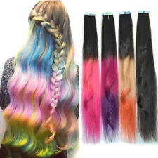 20'' 3pc PU Tape In Skin Weft Remy Human Hair Extensions Seamless Highlight Hair