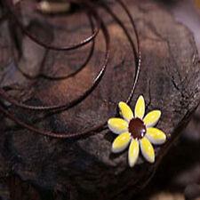 Art Style China Ceramic Color Glaze Elegant Sunflower Necklace Small Gift
