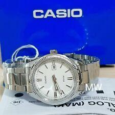 eb9c3942d7fb Casio señoras White Dial Stainless Steel Analog Dress Fecha Reloj  ltp-1302d-7a1