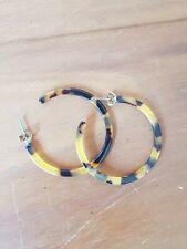 SIX Ohrringe Creolen Stecker Kunststoff Braun Senf-Gelb Schildpad Top chic