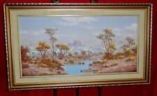 Oil Painting On Panel - Panorama Bushveld African Landscape - Henry Bradenkamp
