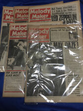 Melody Maker Led Zeppelin front page  5 papers 1975-1976  appox 70pages/each