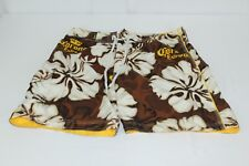 Corona Extra Brown Yellow Floral L Large Board Shorts