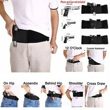 Ultimate Women Men Concealed Carry Belly Band Gun Pistol Holster Fits Gun Glock