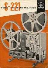 Bolex Paillard S-221 - 16mm Soun Film Projector - Instruction Manual - PDF File
