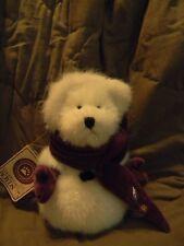 "Boyds MIKIE O'BURR ~ 8"" Hallmark Excl sparkly snowbear ~ mint w/ tag"