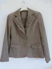 """Klass"" Ladies Light Brown Corduroy Jacket Size 12 v.g.c.."