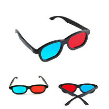 Plastic Anaglyph Red Blue Cyan Framed 3D Glasses 3D Dimensional For Game Movie