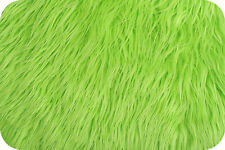 Lime Green Mongolian Faux Fur Photo Prop Newborn Nest 18 x 30 Inches Photography