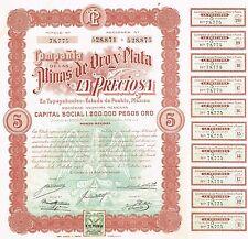 MEXICO MINES OF OROY PLATA LA PRECIOSA COMPANY BOND stock certificate 1911