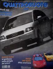 Quattroruote 539 2000 Audi A2 divide. Ferrari 360 Spider, sfida americana [Q68]