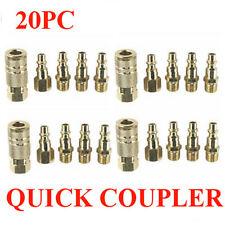 (20) Brass Coupler Quick Connect Coupler Set Air Compressor Hose NEW