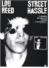 LOU REED  POSTER. STREET HASSLE. Velvet Underground.
