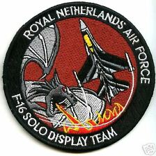 NETHERLAND AIR FORCE F-16 FIGHTING FALCON SOLO DISPLAY DEMO TEAM SWIRL PATCH