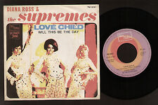 """7"""" DIANA ROSS SUPREMES LOVE CHILD / WILL THIS BE THE DAY ITALY 1968 TAMLA MOTOWN"""