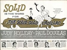 THE SOLID GOLD CADILLAC pressbook, Judy Holiday Paul Douglas PLUS 3 SHEET POSTER