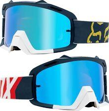 Fox air Espace MOTOCROSS MX Lunettes Preme - marine rouge avec verres miroir