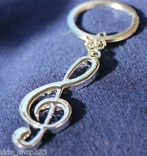 Musical Note musician FULL metal Collectible Key chain cosplay :) US SELLER