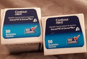 Bayer Contour Next Testing Strips Brand New and Sealed x100