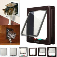 More details for abs pet door frame 4 way locking small medium large dog cat flap magnetic uk hot