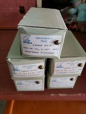 """5 - New Oxford Finish Steel Upholstery Decorative Nails 9H x 1/2"""" 1000 ea box"""