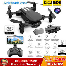 Mini Foldable Arm Drone 4K HD Camera WiFi FPV Drones RC Quadcopter Wide Angle AU