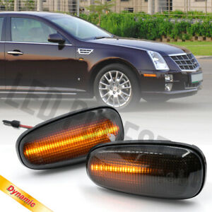 Sequential LED Fender Side Marker Signal Repeater Lamp for 05-11 Cadillac STS V