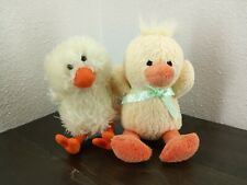 Lot of 2 Plush Animals 1 - duck 1- chick - Stuffed toys