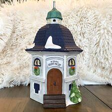 Vintage Mint Silent Night Chapel Music Box Alpine Snow Village Department 56