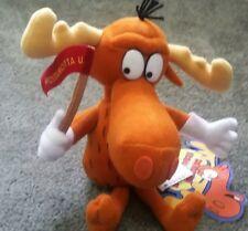"""Bullwinkle J. Moose 9"""" plush w/Tag by Stuffins Cvs from Rocky & Bullwinkle"""