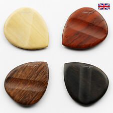WOODEN GUITAR PLECTRUMS / PICKS MADE FROM SELECTION OF EXOTIC WOODS
