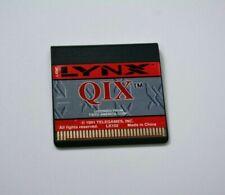 Atari Lynx QIX game cartridge, vintage/retro Atari game