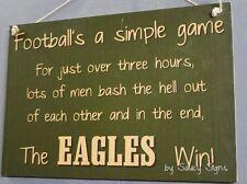 Simple Game Philadelphia Eagles Sign Handmade Football Bar Jersey Tickets Cards