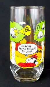 McDonald's Camp Snoopy Drinking Glass Charlie Brown Snoopy Woodstock EUC