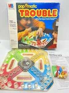 Vintage Milton Bradley Pop O Matic TROUBLE 1986 Game 100% Complete & Working