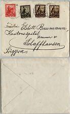 REGNO-IMPERO 10c+30c+75c(439/432/444)-Firenze->Schaffhausen 10.11.1939